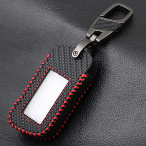 Image 3 - Carbon Fiber Style Leather A93 Car Key Case for Starline A39 A63 Two Way Car Alarm Remote Controller LCD Transmitter KeyChain