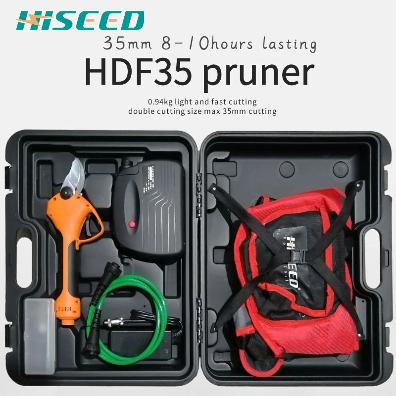 HISEED electric scissors F35 800g on hand 35mm cutting electric pruning shears garden and vineyard electric secateurs