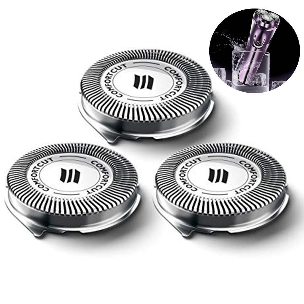 3Pcs/Set Replacement Shaver Head For Philips Norelco 3000 Series Razor Replacement Heads Blade SH30/52 Knife Mesh 30E