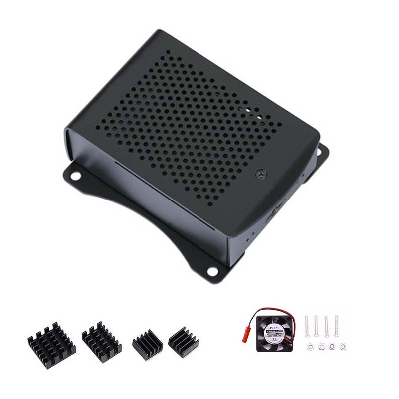 Latest-Aluminum-case-with-Heatsink-Hanging-bracket-Compatible-fan-for-Raspberry-Pi-4-Model-B