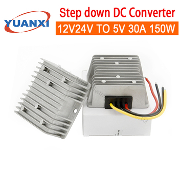 150W Step down DC converter 12V 24V TO 5V 30A 150W dc dc converter [cheneng]mean well original lpp 150 5 5v 30a meanwell lpp 150 5v 150w single output with pfc function