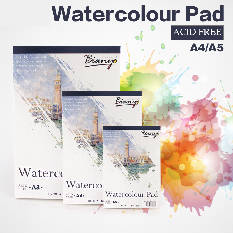 A5/A4 Watercolor Book Water Color Paper Sketch Notepad For Painting Drawing Diary Journal Creative Notebook Art Supplies