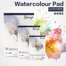все цены на A5/A4 Watercolor Book Water Color Paper Sketch Notepad for Painting Drawing Diary Journal Creative Notebook Art Supplies онлайн