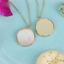 SA SILVERAGE White Jewelry Natural Shell Necklace Round Pendant Women Gifts for and Men