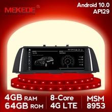 MEKEDE 4G + 64G Android 10 radio samochodowe odtwarzacz multimedialny do BMW serii 5 F10/F11/520 (2011 2017) do automatycznej nawigacji gps CIC/NBT