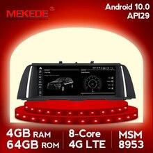 MEKEDE autoradio Android 10, 4 go/64 go, navigation gps, lecteur multimédia, pour BMW série 5 F10/F11/520 (2011 2017), CIC/NBT