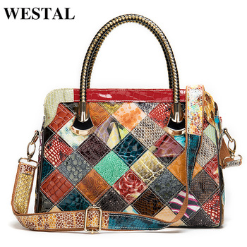 WESTAL women's leather handbags bags for women 2020 women's bag genuine leather bolsa feminina designer hand bags shoulder bags