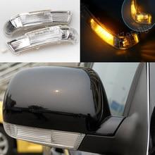 Led espelho lateral transformar a luz do sinal para vw touareg 2003-2007 porta asa espelho retrovisor lâmpada para volkswagen touareg piscas de volta