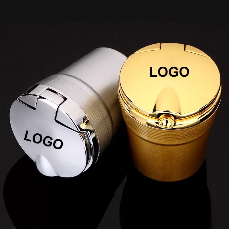 For Audi A3 A4 A5 A6 A7 A8 Q3 Q5 Q7 Logo Special Car Ashtray Car With LED Light Car Ashtray Noctilucous Car Ashtray Trash Box