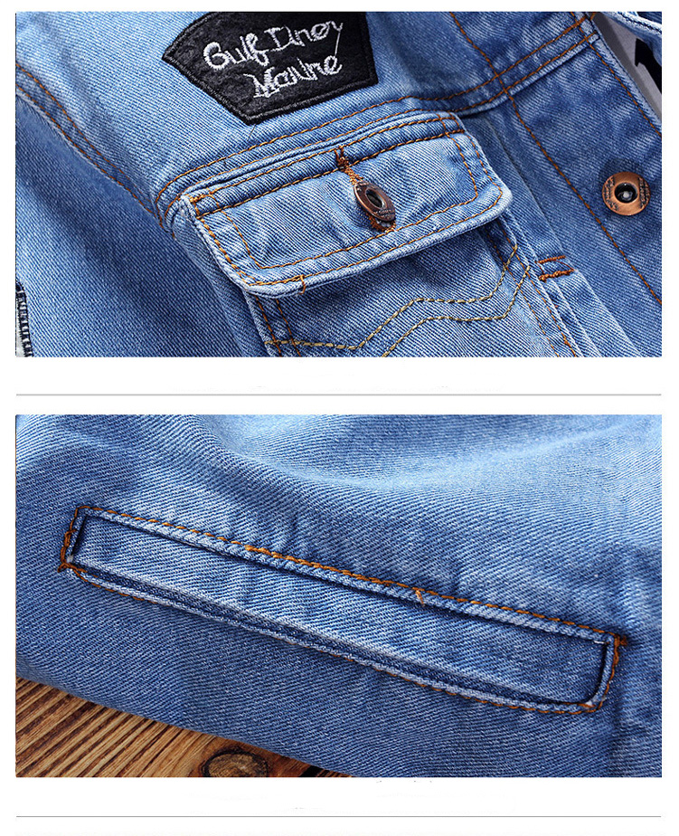 H867fab7155c247829c3e3ea6dd14acbcL - New Men's Denim Jacket Spring Casual Coat Outwear Men Stand Collar Motorcycle Cowboy Male Fashion Jacket DA512