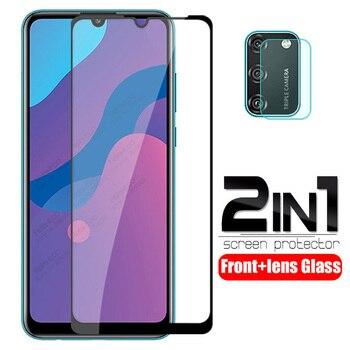 Перейти на Алиэкспресс и купить Защитное стекло для объектива камеры 2 в 1, для huawei honor 9a, закаленное стекло для honor 9s, 9c, honer xonor, 9 a, s, c, Защитная пленка для экрана
