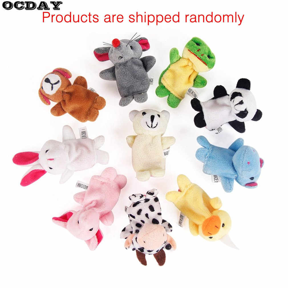 1 pc Animal Finger Puppets Baby Plush Toy Storytelling Props Doll Hand Puppet Kids Toys Children Gift Animal Plush Finger puppet