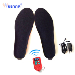 2000mAh Velvet Electric Heated Insoles for Women Shose Outdoor Sport Ski Thermal Insole with Wireless Remote Control Foot Warmer