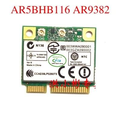 SSEA оптовая продажа оригинальная новая беспроводная карта для Atheros AR9382 AR5BHB116 Половина мини PCI-e карта 300 Мбит/с