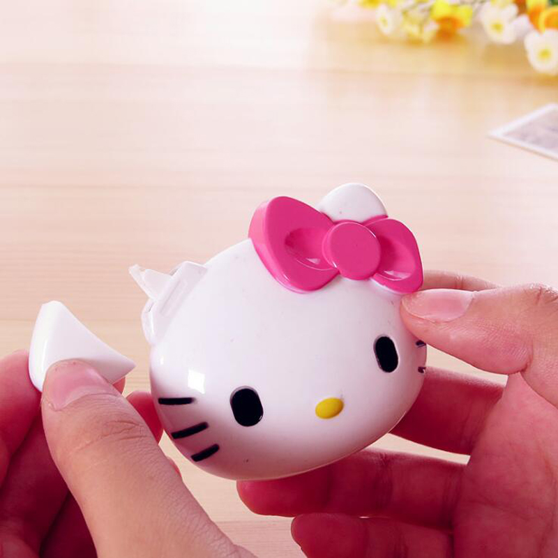 Kawaii Hello Kitty Correction Tape Cartoon Kt Cat Head Stereo Modeling Correction Tape 20m Child Gift Office School Supplies