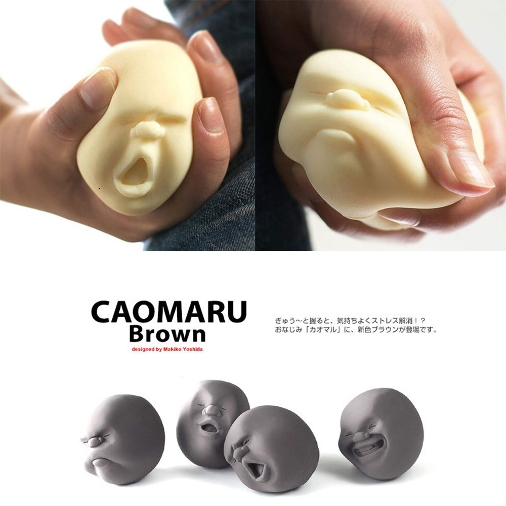 Caomaru Stress Relief Anti-stress Doll Toys For Children Adults Cute Soft Sticky Sound Stress Relief Funny Anti Stress Kids Gift