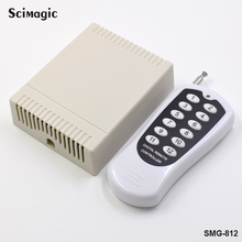 433MHz Wireless Remote Controls RF Transmitter 12 Buttons Work with 433MHz Relay Receiver