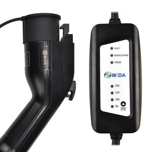Image 5 - Портативное зарядное устройство для электромобилей уровня 2, тип 1, разъем J1772, 8A, 10A, 13A, 16A, 220 В, зарядная станция для электромобиля