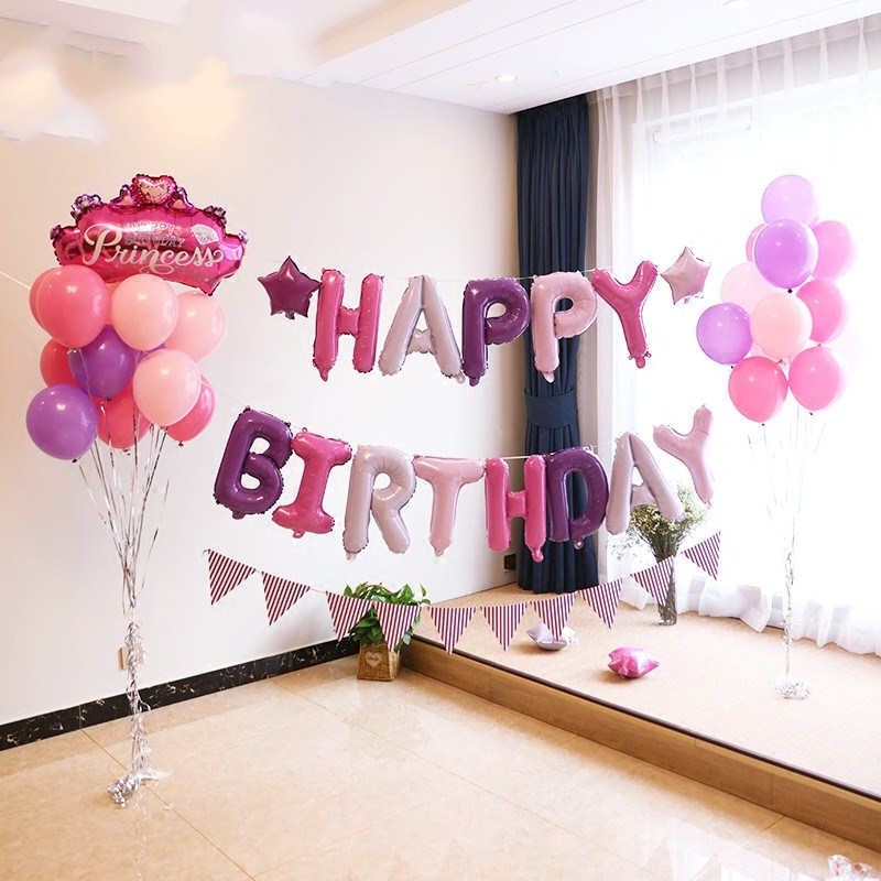 Image 2 - 13pcs Happy Birthday Letter Balloons 16inch Foil Ballons Birthday Party Decorations Rose Gold Silver Black Globos Gifts Supplies-in Ballons & Accessories from Home & Garden