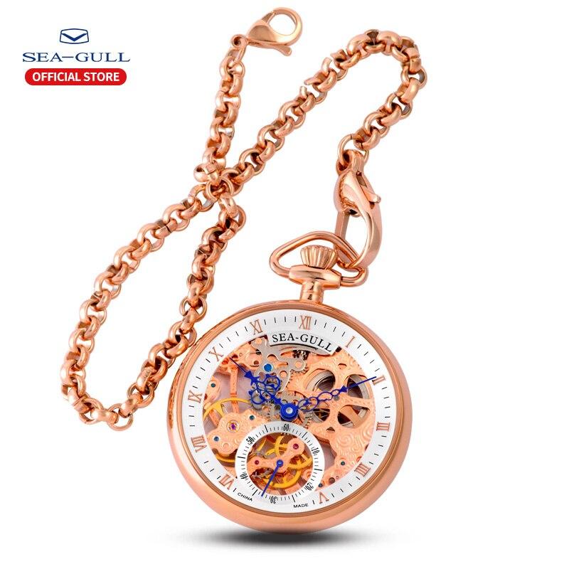 Relógio de Bolso Relógio de Pulso Marca de Luxo Relógio de Ouro Seagull Senhoras Relógios Mecânica-relógio Automático Masculino Rosa M3600s 2020