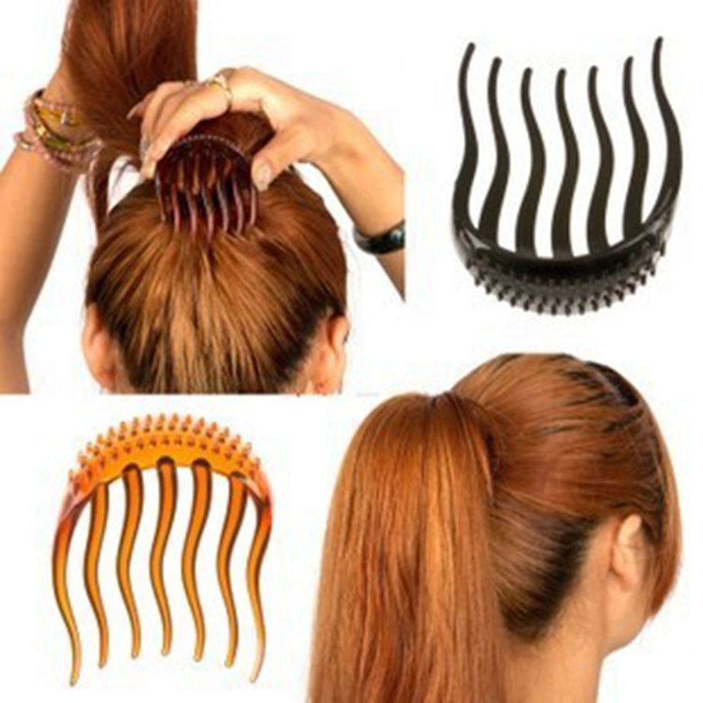 1 PC Makeup Wavy Tooth Insert Hair Combs Hairpins Bouffant Ponytail Maker Hair Clips Hairstyling Tools Accessories