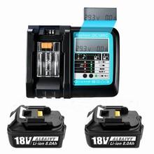 Avec CHARGEUR LED BL1860 Batterie Rechargeable 18 V 8000mAh D'ion de Lithium Pour batterie Makita 18 v 8Ah BL1840 BL1850 BL1830 BL1860