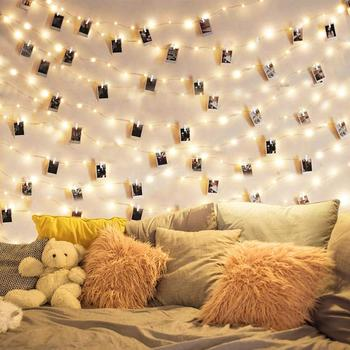 1M/2M/5M/10M Photo Clip LED String Lights Battery Operated Outdoor Holiday Garland Christmas Decoration Party Wedding Lights led string lights 2m 3m photo clip fairy lights battery operated garland home room christmas decoration party wedding xmas