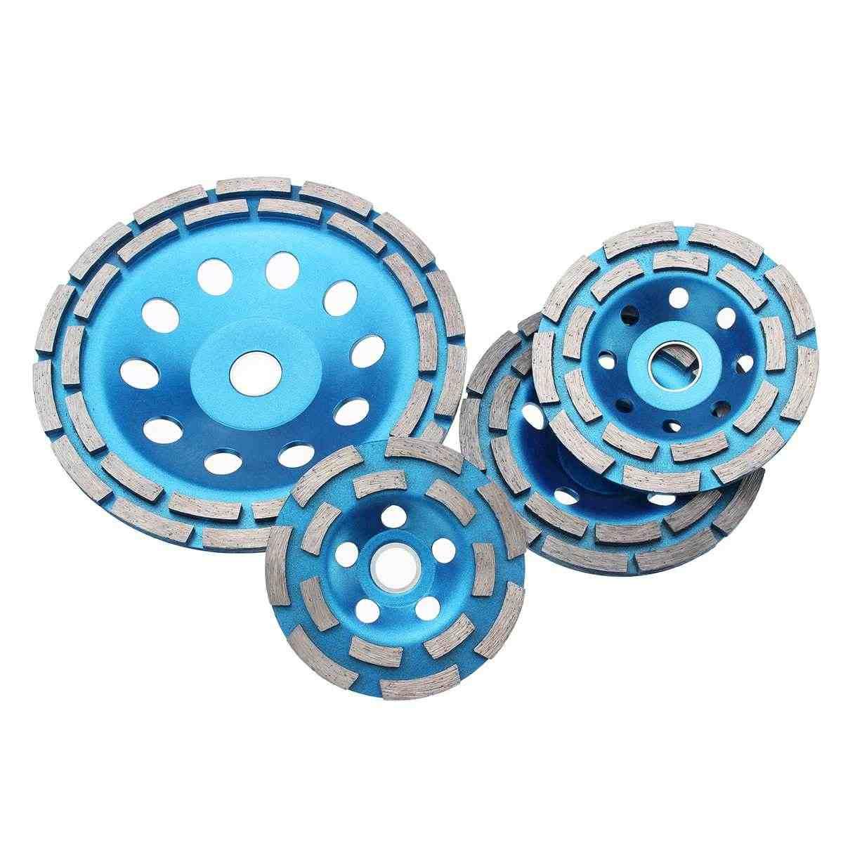 100/115/125 /180MM Diamond Grinding Disc (Alat Alat Pertukangan) Alat Beton Berlian Roda Penggiling Logam Roda Pemotong Piala Melihat