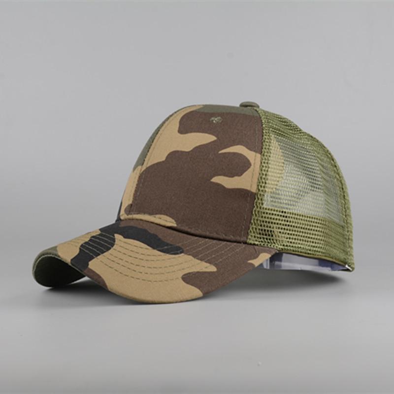 Baseball Hat Snapback Spring Camouflage-Net Horse Women Men's Summer Messy Bun And Outdoor