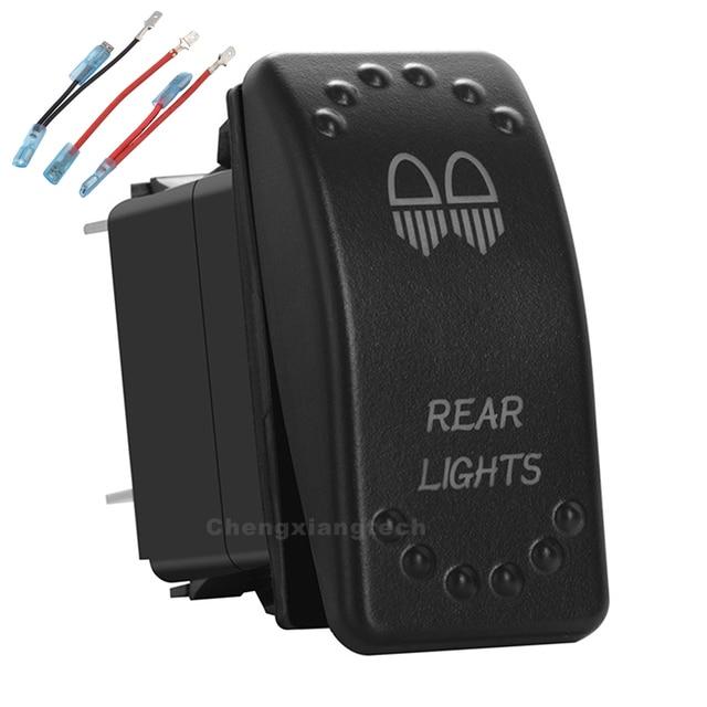 אחורי אורות לבן הוביל מתג 5 סיכות מוט יחיד יחיד לזרוק על/OFF עבור רכב סירה עמיד למים 12v/24v + Jumper חוטים סט