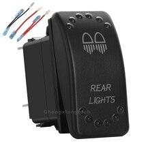 Luces traseras Led blancas, interruptor basculante, 5 pines, un solo polo, encendido/apagado para coche, barco, impermeable, 12v/24v + juego de cables de puente