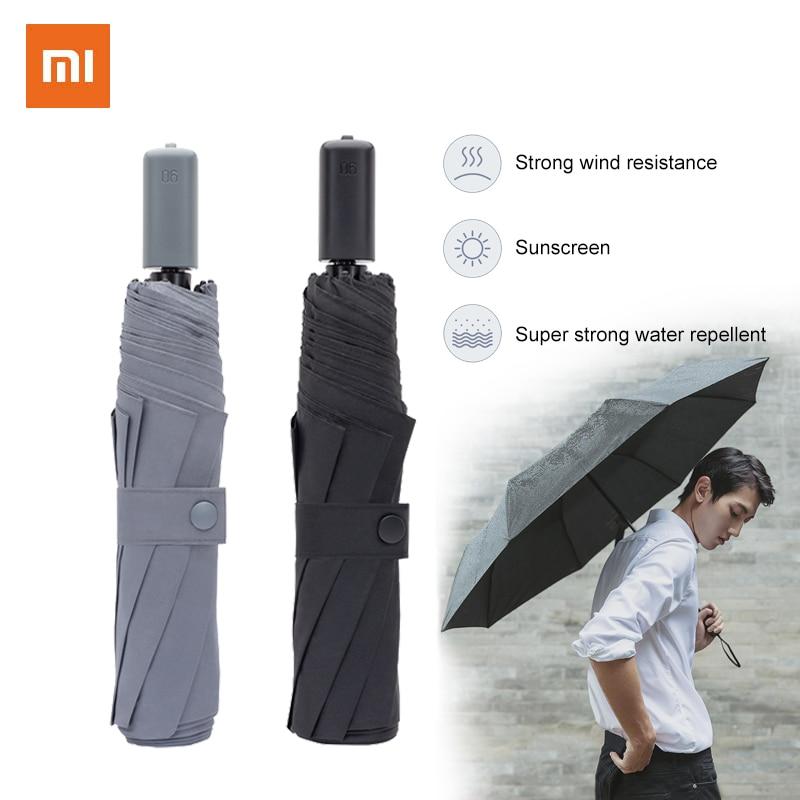 Складной зонт Xiaomi 90FON из алюминиевого сплава, практичный водонепроницаемый неавтоматический зонт для дождливой и солнечной погоды, супер удобный зонт Зонтики      АлиЭкспресс