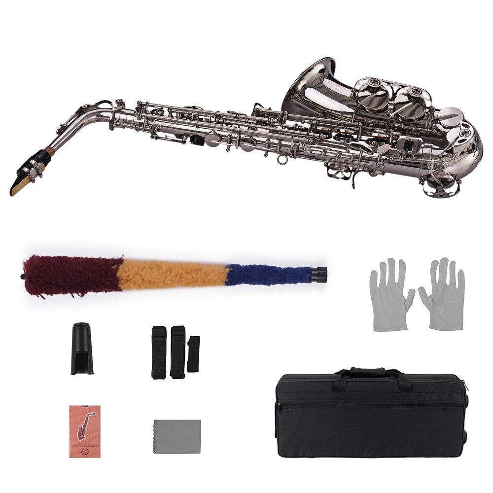 Muslady Eb Altsaxofoon Sax Messing Gelakt Goud 802 Type Sleutel Sax Muziekinstrumenten Met Gewatteerde Draagtas Handschoenen - 2