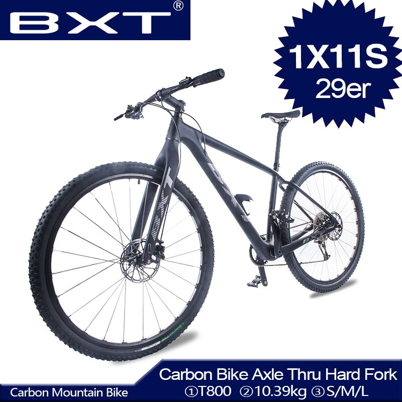 Full Carbon Mountain Complete Bike 29 Inch Disc Light Carbon Bicycle Thru Axle Hard Fork 29er MTB Bike Frame Adult MTB Bicycle