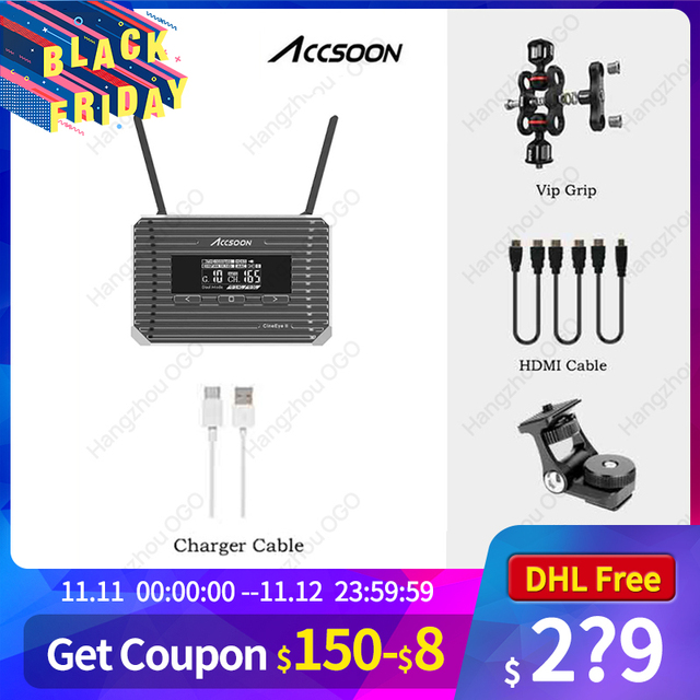 ACCSOON CineEye 2 II Mini Wireless Video Audio Transmitter Receiver HDMI Transmission Video Transmitter 1080P Video Audio 400ft