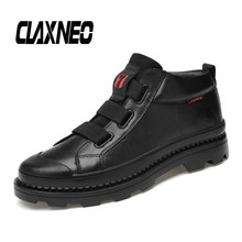 CLAXNEO Man Boots Genuine Leather Autumn Men's Ankle Boot Male Shoes Casual Walking Footwear clax men s ankle boots genuine leather casual shoes male 2018 spring autumn leather boot soft comfortable walking footwear