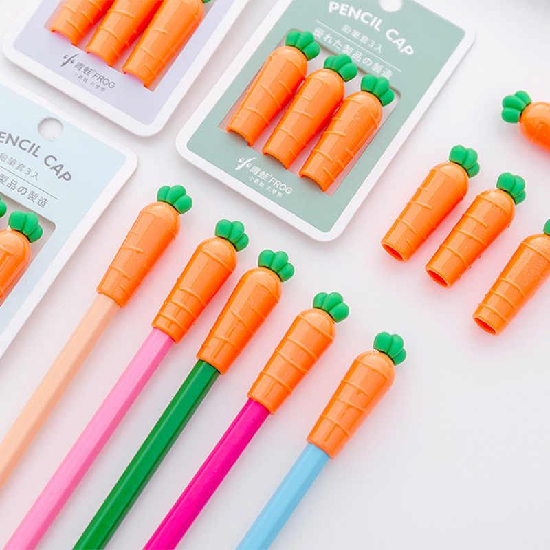3 قطعة/الحزمة الأطفال مجموعة أقلام طالب قلم رصاص حامي الأميرة قبعة توبر اللوازم المدرسية