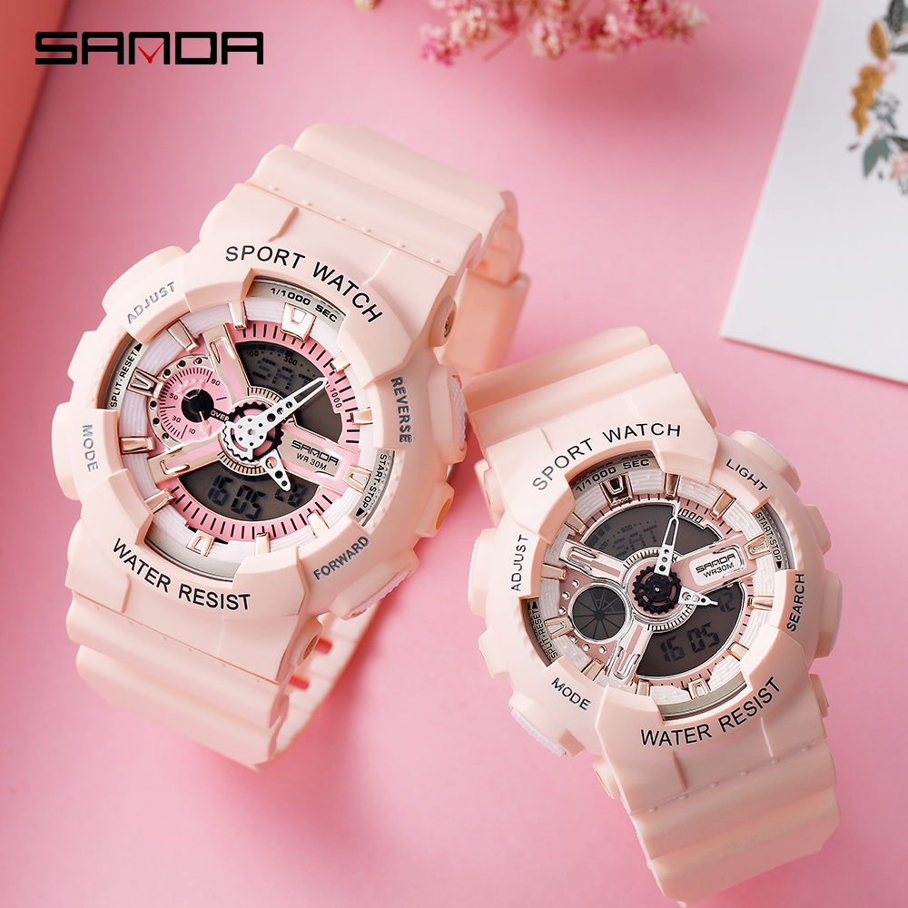 2020 SANDA G Style Sport Men's Watch Multifunction Waterproof Sport Couple Wristwatch Quartz Clock Male Watch Relogio Masculino
