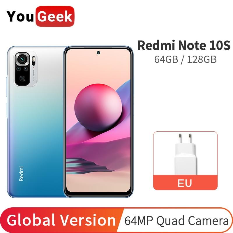 Xiaomi Redmi Примечание 10S смарт-телефон 64 Гб/128 Helio G95 64MP камера 6,43