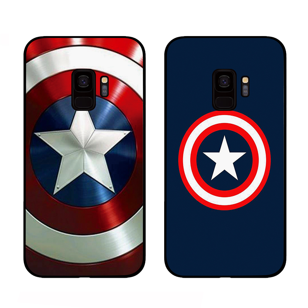 Captain America Ironman For Marvel Cases For Samsung Galaxy S10 S8 S9 Plus S7 S6 Edge Note 8 9 10 Pro Lite Cover