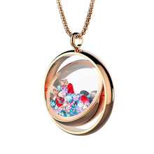 BOFEE плавающий медальон Кулон Колье с лупой Кристалл 316L Нержавеющая сталь Шарм памяти жизни магнитные ювелирные изделия подарок