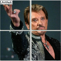 Square/round johnny hallyday 5d diamond painting French singer 3d diamond mosaic embroidery crafts stickers