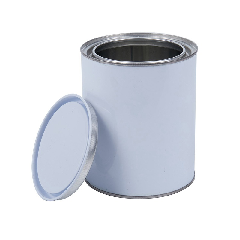 Ev ve Bahçe'ten Şişe  Kavanoz ve Kutular'de Sıcak satış 1L küçük yuvarlak 1 litre kimyasal tankı boya kaplama conta demir kutu title=