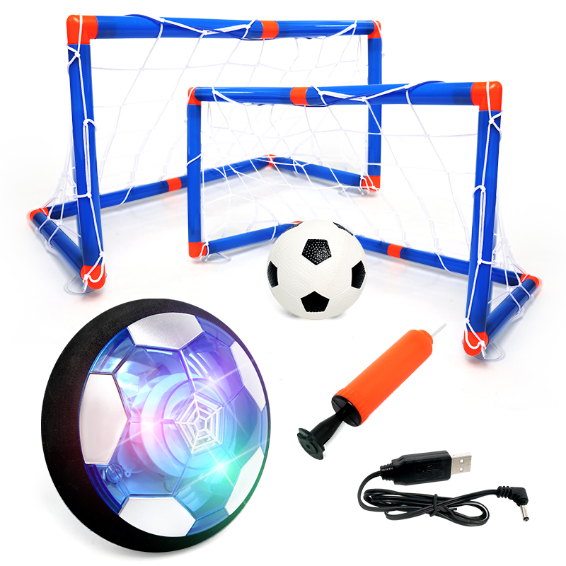 Suspended Football Toy Air Cushion Indoor Electric Football With LED Light Fun Soccer Educational Game Kids Gifts