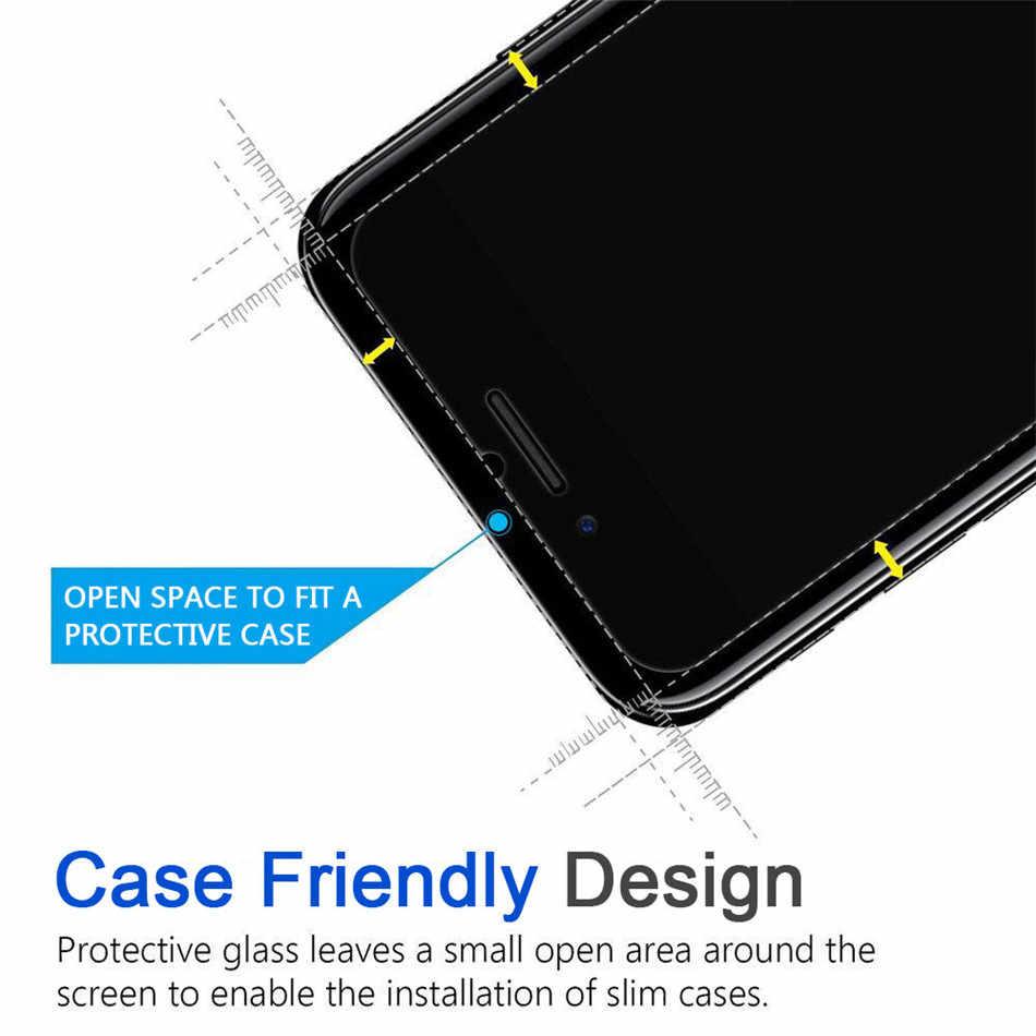 2PCS 강화 유리 필름 아이폰 11 프로 최대 화면 보호기 커버 아이폰 8X7 6 6S 플러스 5 5S SE 2020 XS XR XS 최대 필름