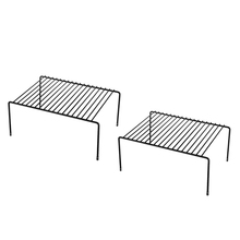 Półki kuchenne, organizacja szafek Mini półka do przechowywania metalowy blat kuchenny półki metalowe (2 szt.)
