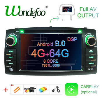 DSP 2 din Android 9.0 4G 64G car dvd player For Toyota Corolla E120 BYD F3 multimedia player stereo GPS radio navigation - Category 🛒 Automobiles & Motorcycles