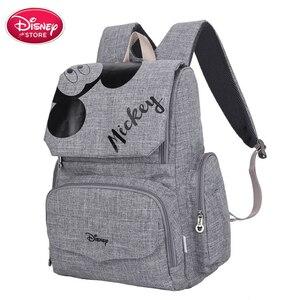Image 1 - 원래 디즈니 가방 미니 미키 마우스 배낭 엄마 기저귀 가방 출산 여행 베이비 케어 엄마 가방 간호 핸드백