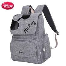 Originale Disney Borse Minnie Mickey Mouse Zaino Borse Per Pannolini Mummia Maternità Viaggi di Cura Del Bambino Mamma Sacchetto di Cura Borsa