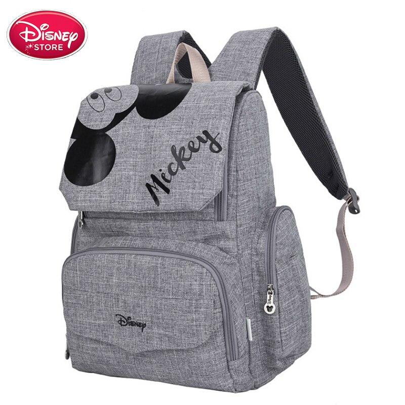 Sacs Disney originaux Minnie Mickey Mouse sac à dos momie sacs à couches maternité voyage soins de bébé sac maman sac à main d'allaitement